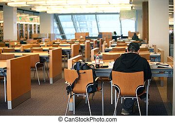 男の子, 図書館