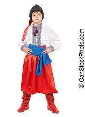 男の子, 国民, 衣装, ウクライナ