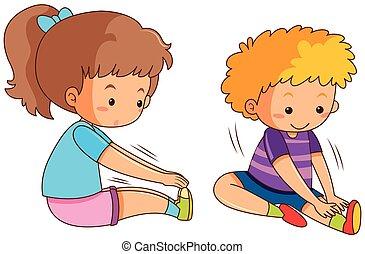 男の子, 女の子の運動