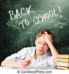 男の子, 学校, 悲しい