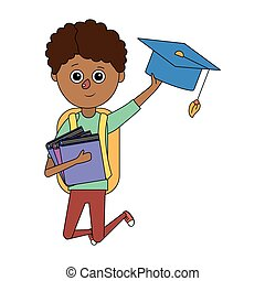 男の子, 学校, 漫画, 子供
