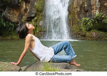男の子, 弛緩, ∥において∥, 滝