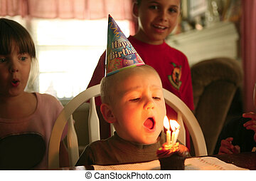 男の子, 彼の, 祝う, birthday, 赤ん坊, 幸せに微笑する
