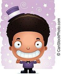 男の子, 微笑, 手品師, 漫画
