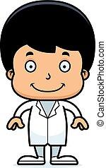 男の子, 微笑, 漫画, 医者