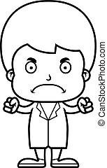 男の子, 怒る, 漫画, 医者
