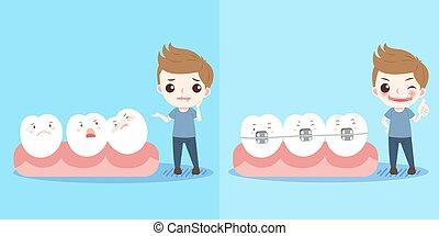 男の子, 歯