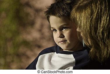 男の子, 母