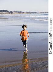 男の子, 浜