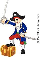 男の子, 海賊, 漫画