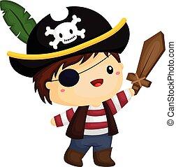 男の子, 海賊