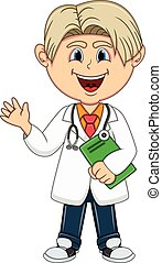 男の子, -, 漫画, 医者