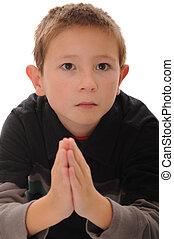 男の子, 祈ること