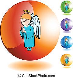 男の子, 祈ること, 天使