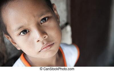 男の子, 窮乏, フィリピン人, 暮らし