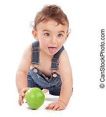 男の子, 赤ん坊, 幸せ, 健康