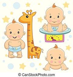 男の子, 赤ん坊, 部分, 5