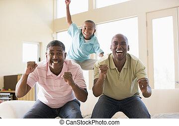 男の子, 部屋, 暮らし, 男性, 若い, 2, 元気づけること, 微笑