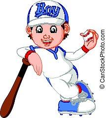 男の子, 野球選手