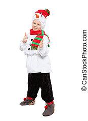 男の子, 雪だるま, 魅了, 衣装, わずかしか