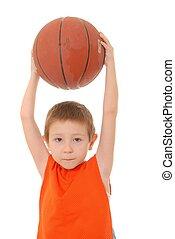 男の子, 2, バスケットボール