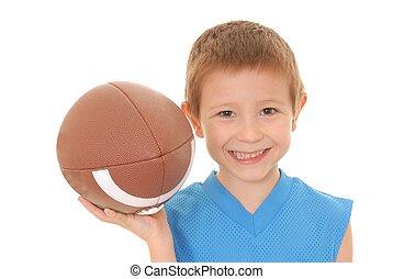 男の子, 2, フットボール