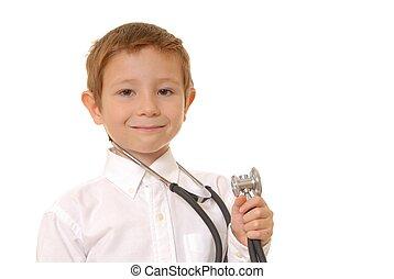 男の子, 2, 医者