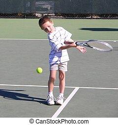 男の子, 3, テニスプレーヤー