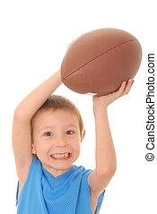 男の子, 3, フットボール