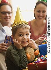 男の子, birthday, パーティー。