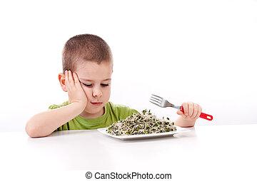 男の子, refuses, 食べること