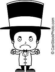 男の子, ringmaster, 怒る, 漫画