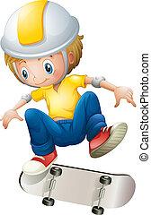 男の子, rollerskate, 遊び