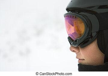 男の子, skier.