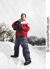 男の子, snowboard.