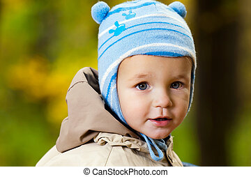 男の赤ん坊, わずかしか, 公園