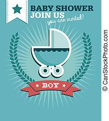 男の赤ん坊, シャワー, 招待