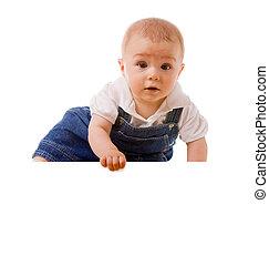 男の赤ん坊, メッセージ, 保有物