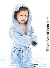 男の赤ん坊, ローブ, 青