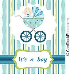 男の赤ん坊, 到着