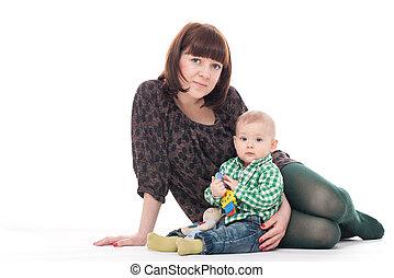 男の赤ん坊, 彼の, 母