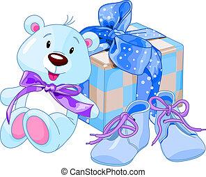 男の赤ん坊, 贈り物