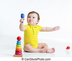 男の赤ん坊, 遊び, おもちゃ