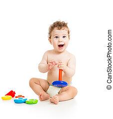 男の赤ん坊, 遊び, 幸せ