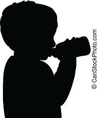 男の赤ん坊, 飲料水