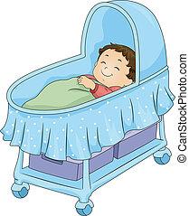 男の赤ん坊, bassinet