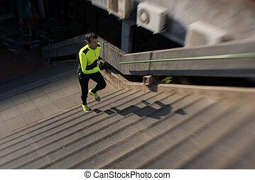 男ジョッギング