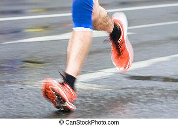 男ラニング, 都市, マラソン