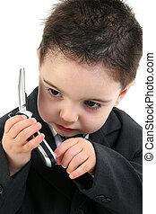 男孩孩子, cellphone