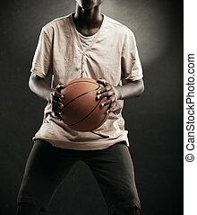 男孩, 篮球
